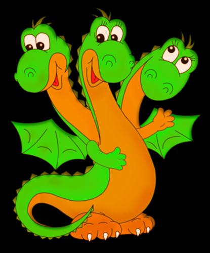 трёхголовый дракон картинки