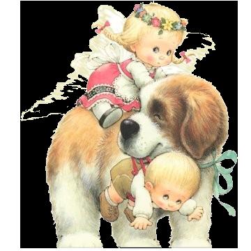 Рисунок иллюстрация большая собака