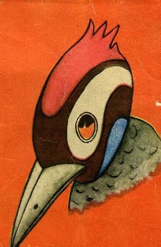 Маска дятла из бумаги 199