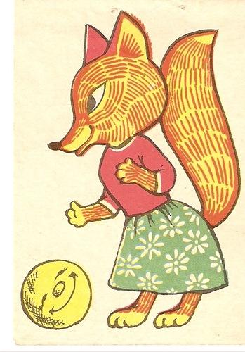 девочка лиса рисунки
