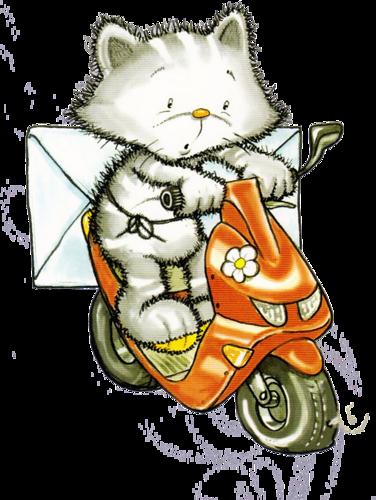 Картинки кот с телефоном