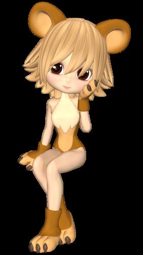 Девочка в костюме львёнка