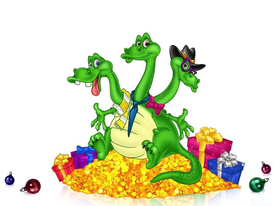 Флэш открытки змей горыныч с днем рождения